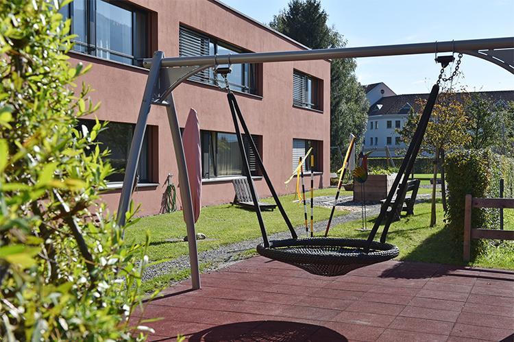 Gartenplatz der Stiftung arwole