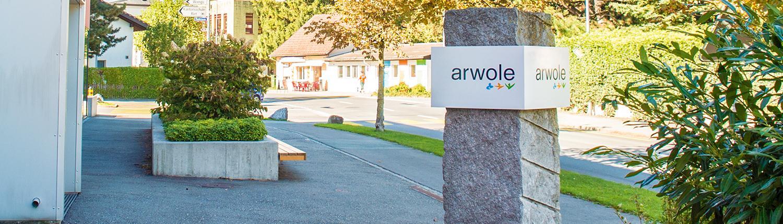 Eingangsbereich der Stiftung arwole