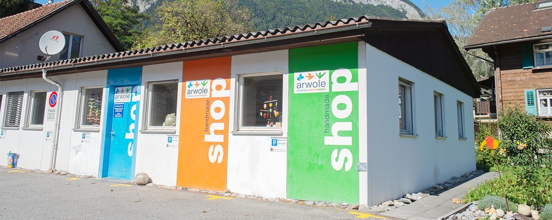 handmade shop der Stiftung arwole