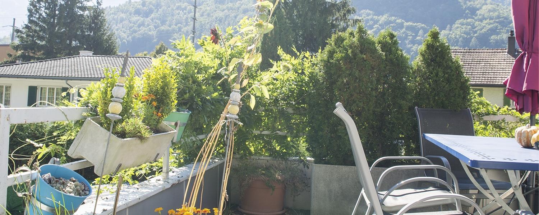 Terrasse der Stiftung arwole